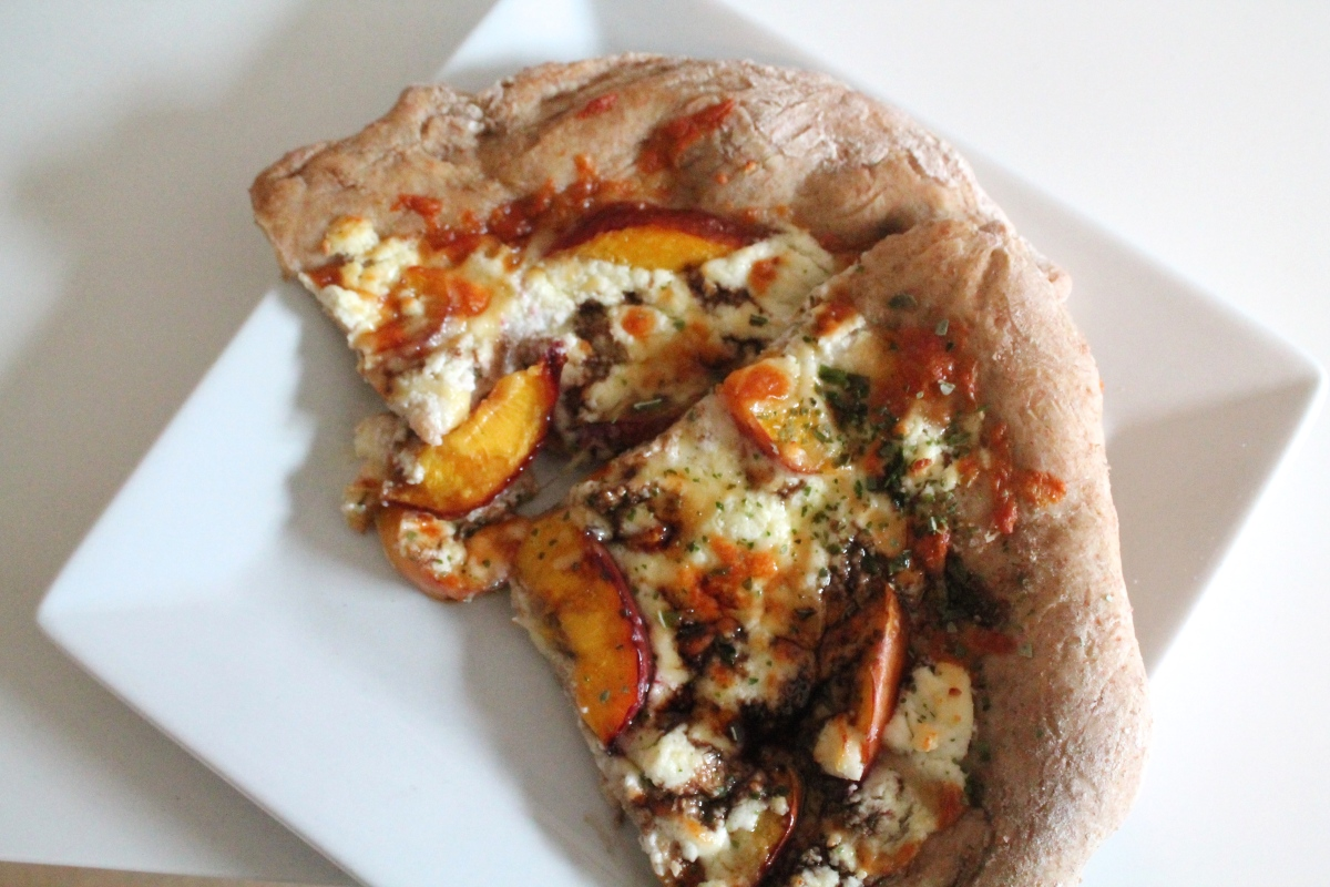 Nectarine and Balsamic Pizza